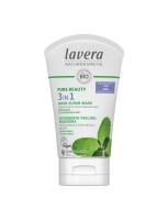 lavera 3в1 почистващ гел пилинг маска